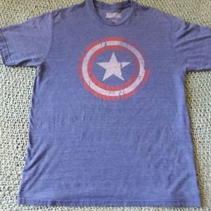 Blue Marvel Comics Captain America Shirt